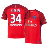 Maillot Paris Saint Germain Alec Georgen Exterieur 2016/2017