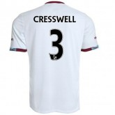 Maillot West Ham Aaron Cresswell Exterieur 2016/2017