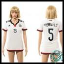 Acheter Un Maillot Allemagne (Hummels 5) Femme Domicile 2015 Coupe Du Monde En Ligne