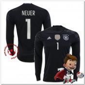 Allemagne Maillot Foot Neuer Gardien Domicile Manche Longue Coupe Euro 2016