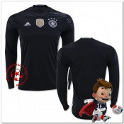 Allemagne Maillot Gardien Domicile Manche Longue Coupe Euro 2016