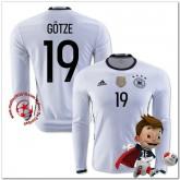 Allemagne Maillot Gotze Domicile Manche Longue Coupe Euro 2016
