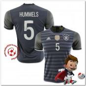 Allemagne Maillot Hummels Extérieur Coupe Euro 2016