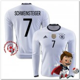 Allemagne Maillots De Foot Schweinsteiger Domicile Manche Longue Coupe Euro 2016