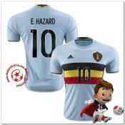 Belgique Maillots De Foot E.Hazard Extérieur Coupe Euro 2016