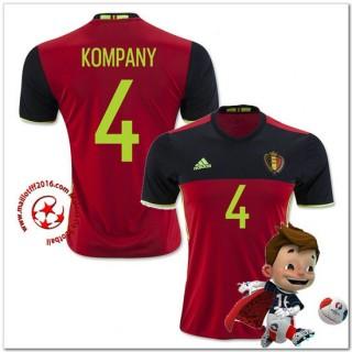 Belgique Maillots De Foot Kompany Domicile Coupe Euro 2016