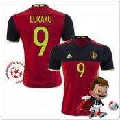 Belgique Maillots De Foot Lukaku Domicile Coupe Euro 2016