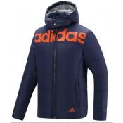 Coton Manteau Adidas 2016 - Bleu Boutique Paris