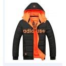 Coton Manteau Adidas 2016 - Noir/Orange Shop France