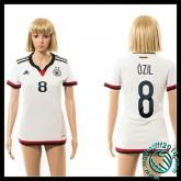 Dessin De Maillot Allemagne (Ozil 8) Femme Domicile 2015 Coupe Du Monde Boutique En Ligne