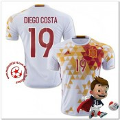 Espagne Maillot Diego Costa Extérieur Coupe Euro 2016
