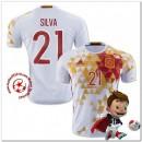 Espagne Maillots Silva Extérieur Coupe Euro 2016