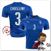 Italie Maillot Foot Chiellini Domicile Coupe Euro 2016