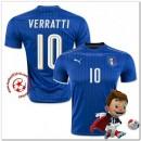 Italie Maillot Foot Verratti Domicile Coupe Euro 2016