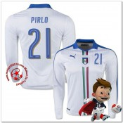 Italie Maillot Pirlo Extérieur Manche Longue Coupe Euro 2016