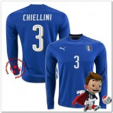 Italie Maillots De Foot Chiellini Domicile Manche Longue Coupe Euro 2016