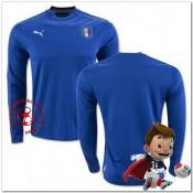 Italie Maillots De Foot Domicile Manche Longue Coupe Euro 2016