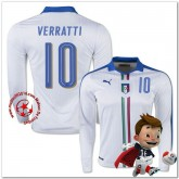 Italie Maillots De Foot Verratti Extérieur Manche Longue Coupe Euro 2016