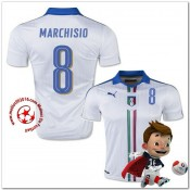 Italie Maillots Foot Marchisio Extérieur Coupe Euro 2016
