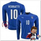 Italie Maillots Verratti Domicile Manche Longue Coupe Euro 2016