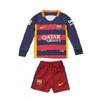 Maillot Barcelone Manches Longue 2016 Domicile Enfant La Vente ? Bas Prix