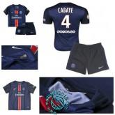 Maillot (Cabaye 4) Paris Saint Germain Enfant Kits 2015/16 Domicile