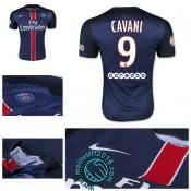 Maillot (Cavani 9) Paris Saint Germain 2015-16 Domicile