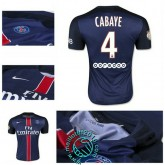 Maillot Foot (Cabaye 4) Paris Saint Germain 2015 2016 Domicile