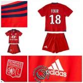 Maillot Foot (Fekir 18) Olympique Lyonnais Enfant Kits 2015-2016 Extérieur