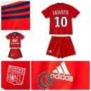 Maillot Foot (Lacazette 10) Olympique Lyonnais Enfant Kits 2015 2016 Extérieur