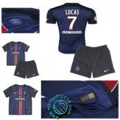 Maillot Foot (Lucas 7) Paris Saint Germain Enfant Kits 2015 2016 Domicile