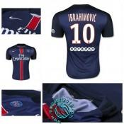 Maillot (Ibrahimovic 10) Paris Saint Germain 2015-16 Domicile