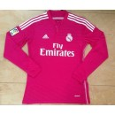 Maillot Real Madrid Manches Longue 2015/16 Exterieur Pas Cher France