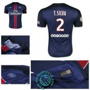 Maillot (T.Silva 2) Paris Saint Germain 2015-16 Domicile