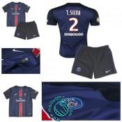 Maillot (T.Silva 2) Paris Saint Germain Enfant Kits 2015 2016 Domicile
