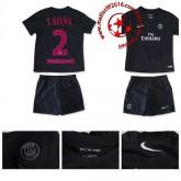Maillots De Foot Psg T Silva Enfant Kits Troisième 2015 2016