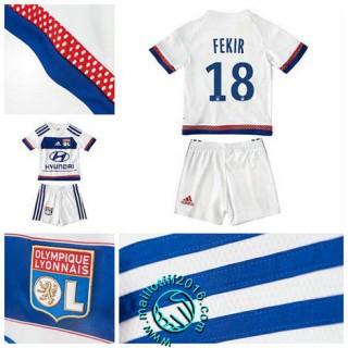 Maillots (Fekir 18) Olympique Lyonnais Enfant Kits 2015 16 Domicile
