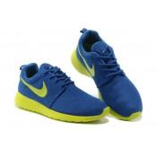 Roshe Run Nike Chaussure Bleu Jaune Alsace