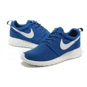 Roshe Run Nike Chaussure Bleu/Blanc Cannes