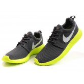 Roshe Run Nike Chaussure Gris Fluorecente Soldes Lyon