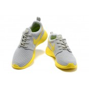 Roshe Run Nike Chaussure Gris Jaune Boutique France