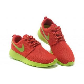 Roshe Run Nike Chaussure Rouge/Vert Magasin Paris