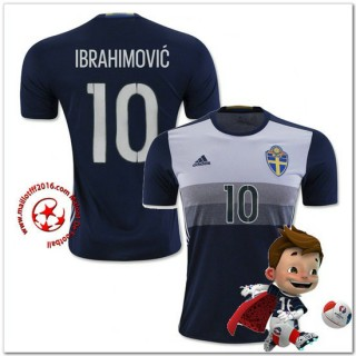 Suède Maillot Foot Ibrahimovic Extérieur Coupe Euro 2016