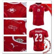 Suisse Maillots Foot Shaqiri Domicile Coupe Euro 2016