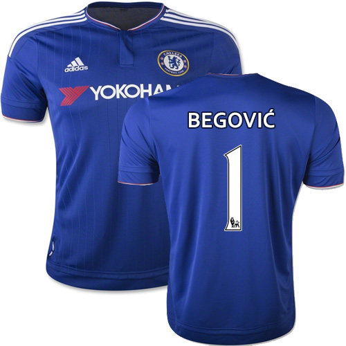 Maillot Chelsea Asmir Begovic 1 domicile maillots de football pas cher 2015 2016