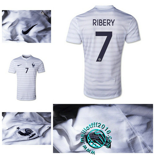 Maillot foot France (RIBERY 7) AUTHENTIC Extérieur 2015/16