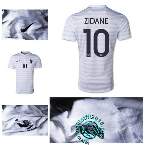 Maillot France (ZIDANE 10) AUTHENTIC Extérieur 2015 2016