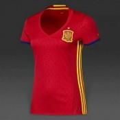 1er Maillot Espagne Coupe D'Europe 2015/2016 - Femme Pas Cher France