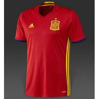 1er Maillot Espagne Coupe D'Europe 2015/2016 Paris