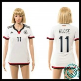 Achat Maillot Foot Allemagne (Klose 11) Femme Domicile 2015 Coupe Du Monde Pas Cher